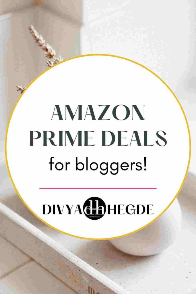 This post contains some of the best amazon prime deals a blogger should take advantage of.