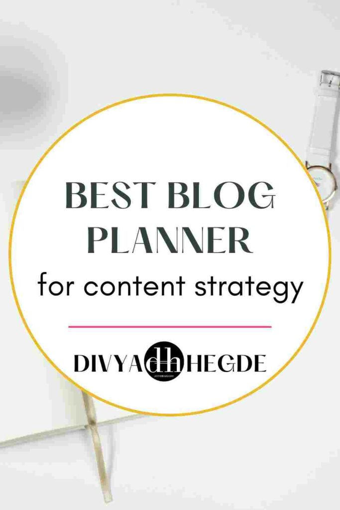 A list of best planners for bloggers to plan content and stay organized.
