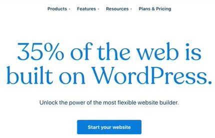 Create new WordPress account for free and start blogging.